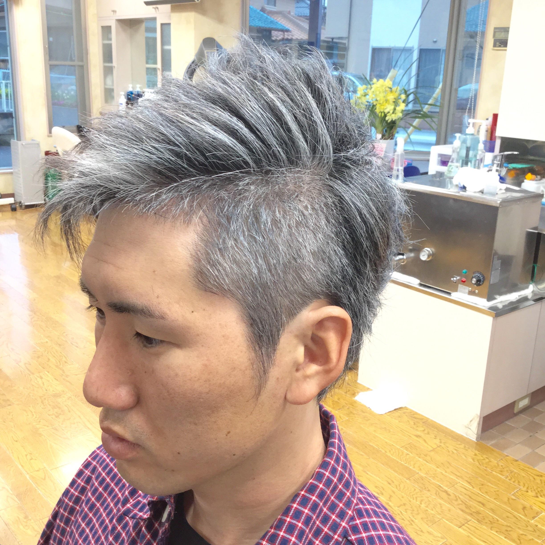 ベリー メンズ アシメ ツー ブロック 髪型 ショート